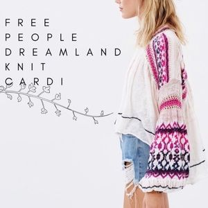 Free People Dreamland Cardi pink white Sweater - S